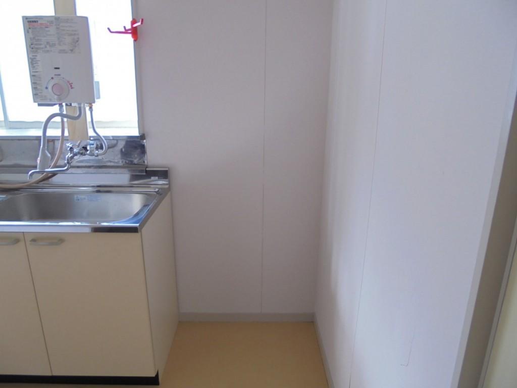 コーポ水上102キッチン・冷蔵庫置場